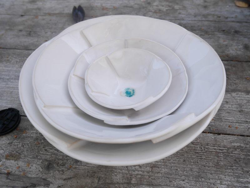 """Keramikteller und Schalenset """"Weiss"""""""