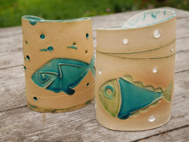 Teelicht Fische